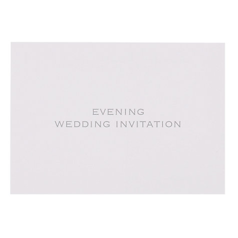Buy John Lewis Evening Wedding Invitation Cards, Pack of 6 Online at johnlewis.com