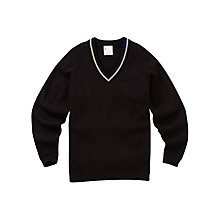 Buy Alderbrook Senior School Unisex Prefect's Pullover, Black Online at johnlewis.com