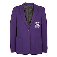 Buy Alderbrook Senior School Girls' Blazer, Purple Online at johnlewis.com