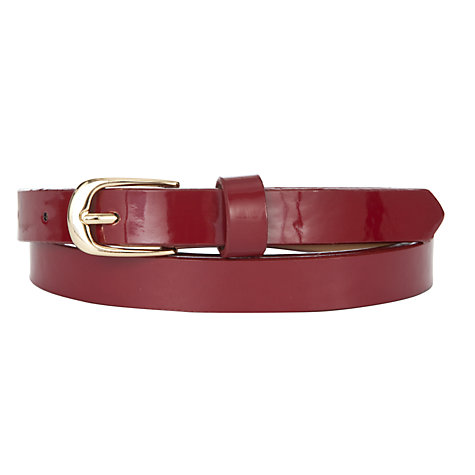 Buy COLLECTION by John Lewis Skinny Patent Belt Online at johnlewis.com