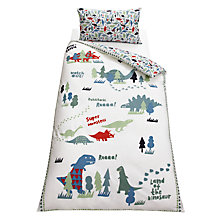 Buy little home at John Lewis Dinotastic Duvet Cover Set Online at johnlewis.com