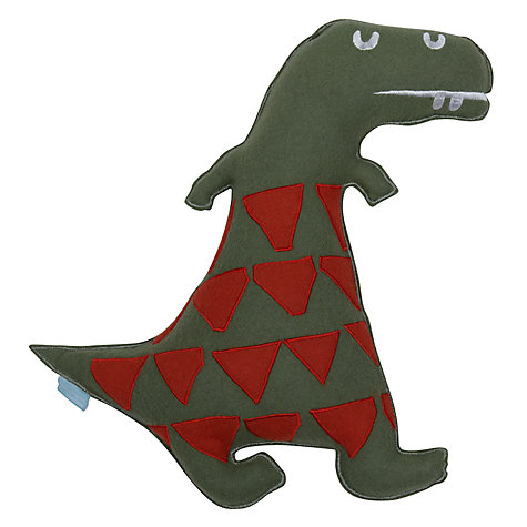 Buy little home at John Lewis Dinotastic Dinosaur Cushion Online at johnlewis.com