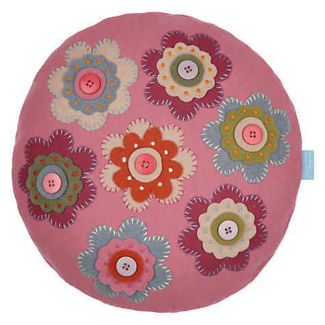 Buy little home at John Lewis Amelie Crochet Cushion, Pink Online at johnlewis.com