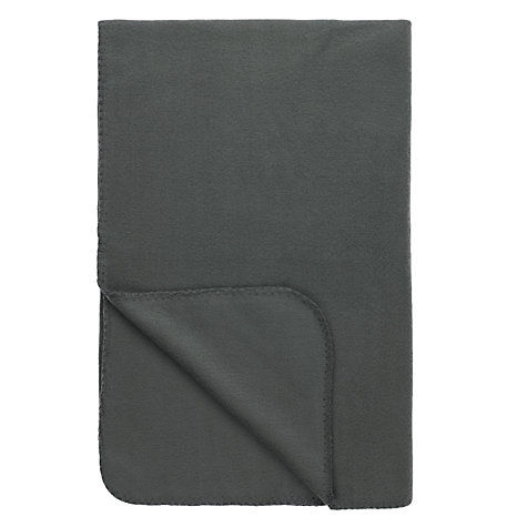 Buy John Lewis The Basics Fleece Throw Online at johnlewis.com