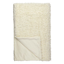 Buy John Lewis Faux Shearling Woolly Throw Online at johnlewis.com