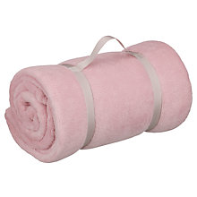 Buy John Lewis Fleece Throw, Soft Pink Online at johnlewis.com