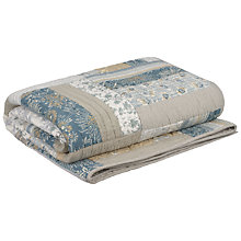 Buy John Lewis Eleanora Stripe Bedspread, Teal Online at johnlewis.com