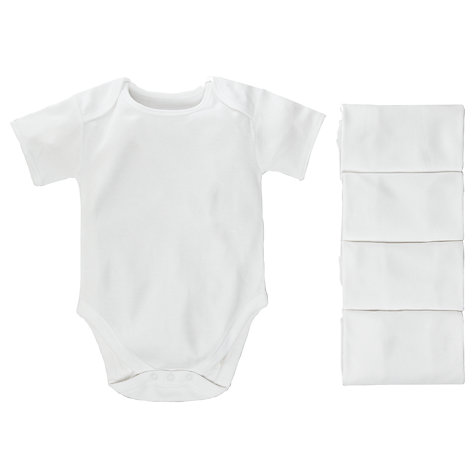 Buy John Lewis Baby Short Sleeve Bodysuits, Pack of 5 Online at johnlewis.com