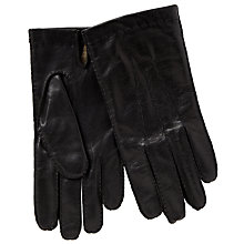 Buy John Lewis Wool Lined Handsewn Leather Gloves, Black Online at johnlewis.com
