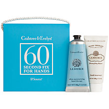 Buy Crabtree & Evelyn La Source 60 Second Fix Set, 2 x 100g Online at johnlewis.com