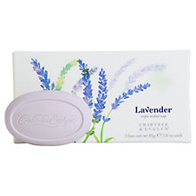 Buy Crabtree & Evelyn Triple Milled Lavender Soaps, 3 x 85g Online at johnlewis.com