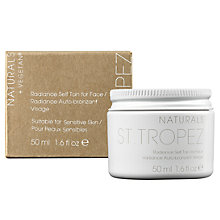 Buy St Tropez Naturals Radiance Self Tan for Face, 50ml Online at johnlewis.com