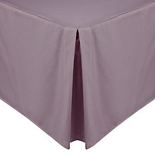 Buy John Lewis Luxury Egyptian Cotton Centre Pleat Valances Online at johnlewis.com