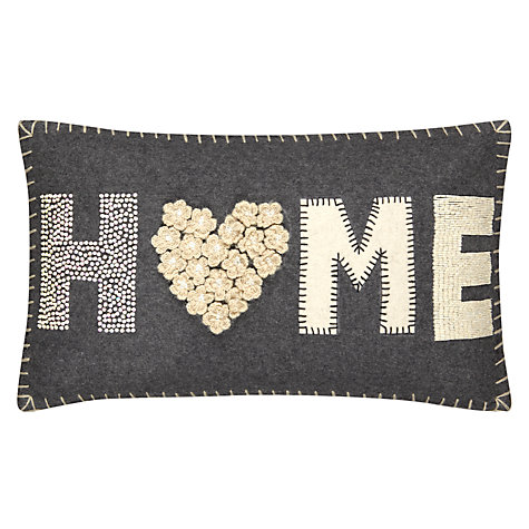 Buy John Lewis Home Cushion, Grey / Cream Online at johnlewis.com