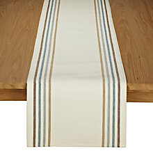 Buy John Lewis Contrast Stripe Table Runner Online at johnlewis.com