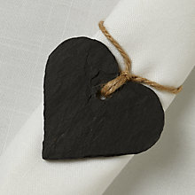 Buy Just Slate Napkin Name Tags, Set of 4 Online at johnlewis.com