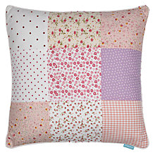 Buy little home at John Lewis Little Blossom Patchwork Cushion Online at johnlewis.com