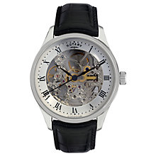 Buy Rotary GS02518/06 Men's Automatic Skeleton Dial Leather Strap Watch Online at johnlewis.com