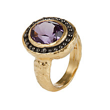 Buy Etrusca Amethyst Stone Gold Plated Bronze Ring Online at johnlewis.com