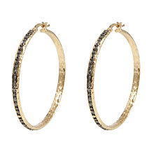 Buy Etrusca 18ct Gold Plated Beaded Hoop Earrings Online at johnlewis.com