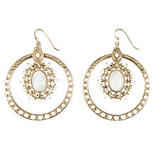 Buy 1928 New York Ivory Coast Mother of Pearl Vintage Hoop Earrings Online at johnlewis.com