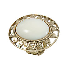 Buy 1928 New York Newport Beach Vintage Brass Mother of Pear Oval Stretch Ring Online at johnlewis.com