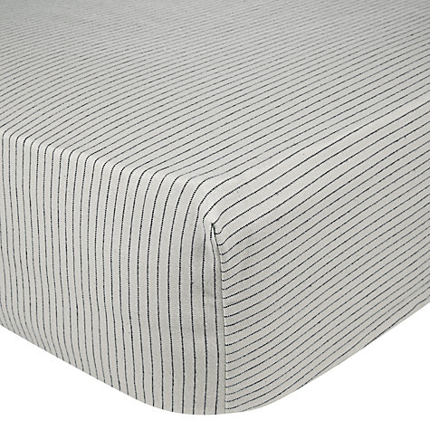 Buy John Lewis Logan Fitted Sheet, Blue Online at johnlewis.com