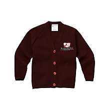 Buy Blossomfield Nursery and Infant School Girls' Cardigan, Maroon Online at johnlewis.com