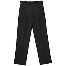 Buy Reading School Boys' Tommy Trousers, Charcoal Online at johnlewis.com