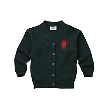Buy Chapel Fields Junior School Girls' Sweatshirt Cardigan, Bottle green Online at johnlewis.com