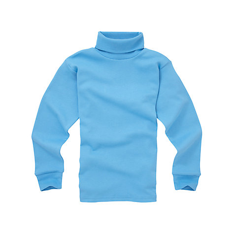 Buy School Roll Neck Top, Blue Online at johnlewis.com