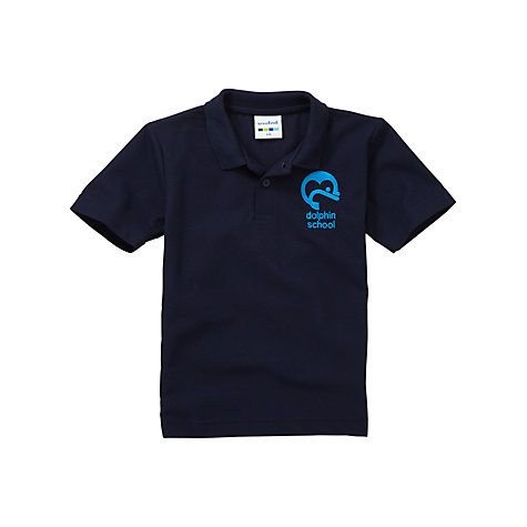 Buy Dolphin School Unisex Polo Shirt, Navy Online at johnlewis.com