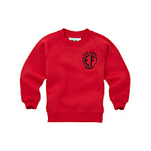 Buy East Fulton Primary School Unisex Nursery Sweatshirt, Red Online at johnlewis.com