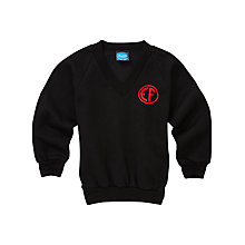 Buy East Fulton Primary School Unisex Years 5 - 7 V-Neck Sweatshirt, Black Online at johnlewis.com