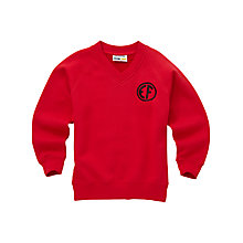 Buy East Fulton Primary School Unisex Years 1 - 4 V-Neck Sweatshirt, Red Online at johnlewis.com
