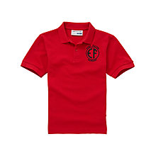 Buy East Fulton Primary School Unisex Nursery Polo Shirt, Red Online at johnlewis.com
