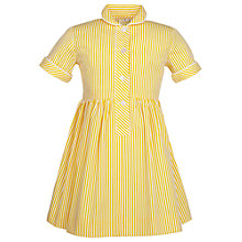Buy School Girls' Summer Dress, Yellow Online at johnlewis.com