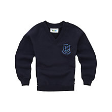 Buy Lairdsland Primary School Unisex V-Neck Sweatshirt, Navy Online at johnlewis.com