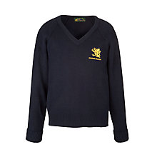 Buy Maiden Erlegh School Unisex Pullover, Navy Online at johnlewis.com