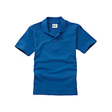 Buy Plain Unisex School Polo Shirt, Royal Blue Online at johnlewis.com