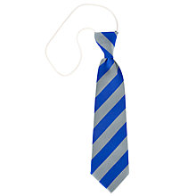 Buy St Andrews RC Primary School Unisex Elasticated School Tie, Grey/Royal Blue Online at johnlewis.com