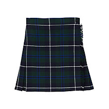 Buy St Bernard's Preparatory School Girls' Tartan Kilt, Blue/Green Online at johnlewis.com