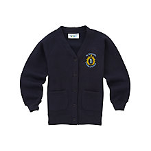 Buy St Bernard's Primary School Girls' Cardigan, Navy Online at johnlewis.com