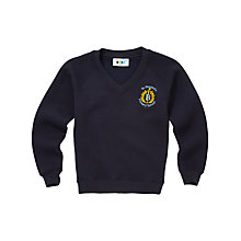 Buy St Bernard's Primary School Unisex V-Neck Sweatshirt, Navy Online at johnlewis.com