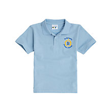 Buy St Bernard's Primary School Unisex Polo Shirt, Sky Blue Online at johnlewis.com