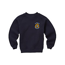 Buy St Bernard's Primary School Unisex Crew Neck Sweatshirt, Navy Online at johnlewis.com
