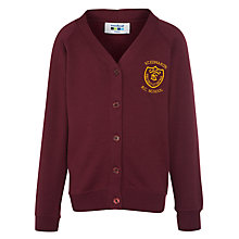 Buy St Edwards RC Primary School Girls' Cardigan, Maroon Online at johnlewis.com