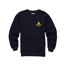 Buy St Margaret Mary's Secondary School Unisex Sweatshirt, Navy Online at johnlewis.com