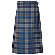 Buy The Mount School Girls' Tartan Kilt, Blue/Multi Online at johnlewis.com