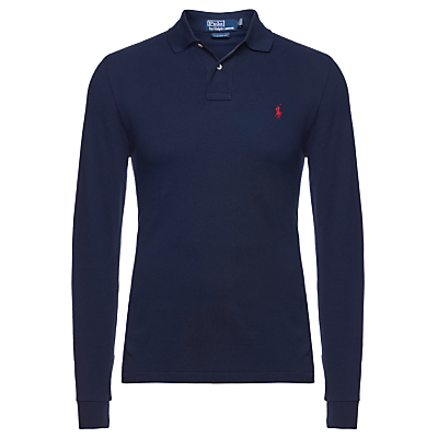 Image of Polo Ralph Lauren Custom Fit Long Sleeve Polo Shirt